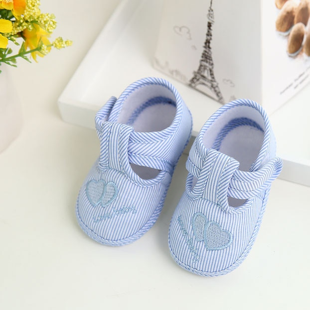 Baby Girl's Hearts Embroidered Summer Shoes